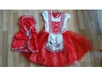 Red riding hood fancy dress 9-10