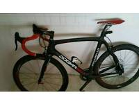 Carbon fibre race bike carbon wheels bars frame