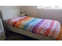 single bed beautiful white leather immaculate