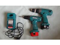 Makita 12v combi screw drill drivers set