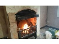 WOOD BURNER SOLID FUEL FIRE DOG GRATE OR PATIO HEATER SUPERB QUALITY HEAVY! 80KG ONE OFF PIECE RARE!