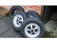 Michelin 205/80 R16 tyres. 2 Latitude Cross and 2 Synchrone, good tread with rims