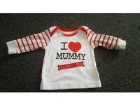 Baby's up to 3 months long sleeve top