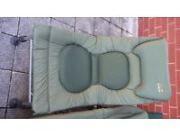 Large fishing chair and bedchair bed padded tfg dave lane deluxe models