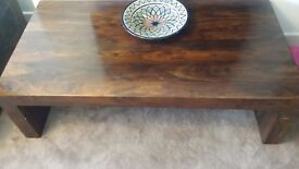 Dark Mango / Indian Redwood Centre Coffee Table Wooden Console