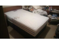 almost new 4 foot memory foam double bed with drawers underneath