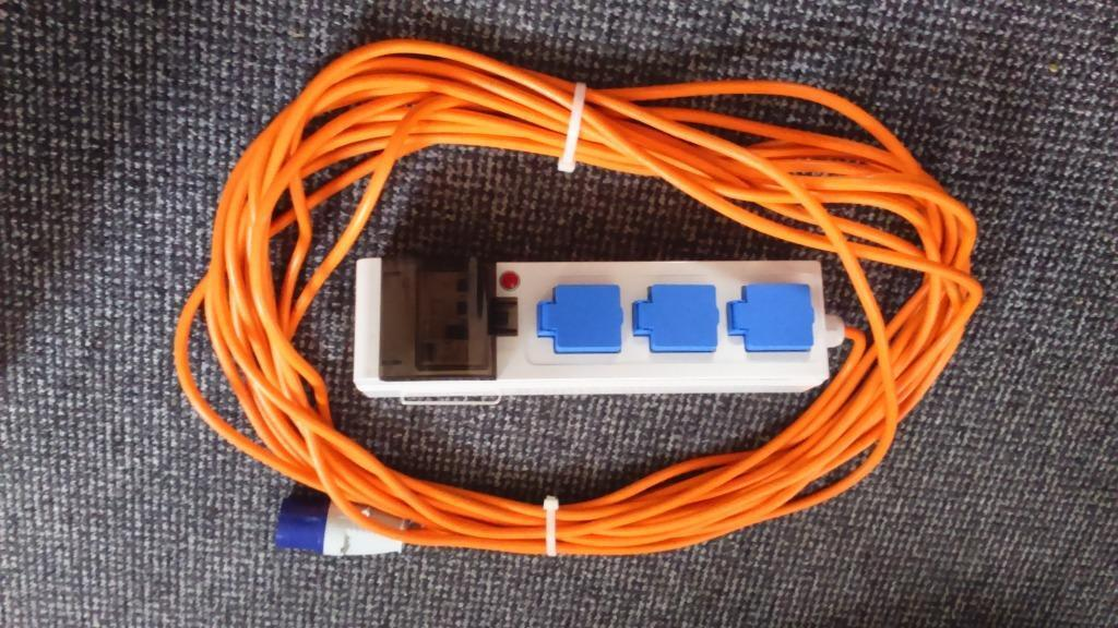 camping mains hook up kit Crusader mobile mains electric hook up 20m - camping electric hook ups from £2999 free post available - fast delivery - allow you mains electric in your tent when camping.