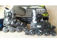 Adjustable inline skates size 5-8