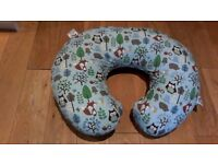 Boppy nursing pillow with Cotton Slip Cover - Woodsie by Chicco
