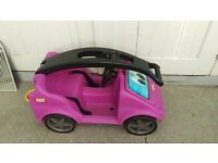 Little tikes push along pink car garden toys 1-3years