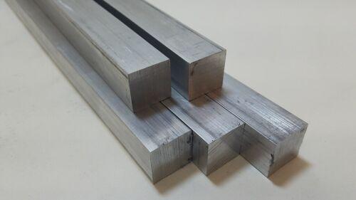 "6061 Aluminum Square Bar, 1"" Square x 10"" long, Solid Stock, T6511"