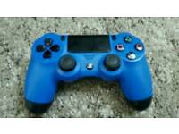 Wireless Blue ps4 controller
