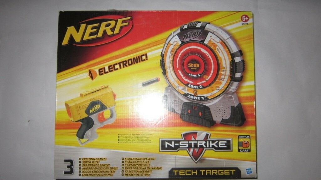 Nerf n-strike tech target boxed with instructions £13. 99.