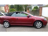 VAUXHALL ASTRA, CONVERTIBLE, 12MONTHS MOT, SERVICE HISTORY, CHEAP ON FUEL AND TAX, ALLOY £675ONO