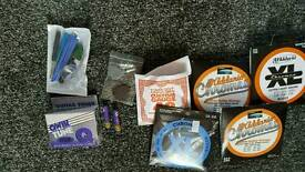 Job lot of strings, picks and tuner