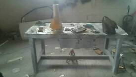 Heavy duty solid work benches