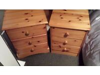 solid pine dressing table and 2 bedsides free local delivery