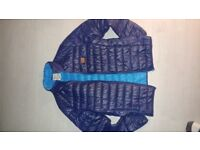 Mens blue light deisgner blend bomber jacket