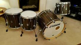 Sonor S Classix Birch Drum Kit - Ebony Veneer