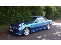 1997 BMW E36 M3 3.2 Evo 6 speed Convertible Estoril Blue in original unmodified condition & hardtop