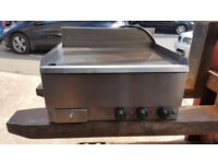 CAFE RESTAURANT TAKEAWAY MOORWOOD VULCAN GRIDDLE, FLAT GRILL 60CM SINGLE PHASE ELECTRIC TABLE TOP