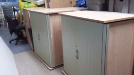 2 x Tambour cabinets from office closure (re advertised and price reduced due to time wasters)