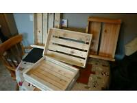 Hand made timber boxes