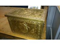 Storage box with ship motif