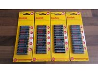 48 x AAA Batteries | Kodak 1.5V Extra Heavy Duty Zinc Chloride | 4 packs of 12 | Leeds | R03 Micro