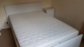 PICK UP - IKEA bed frame with a bedside table £90 / pocket spring mattress £100 - ALL £180