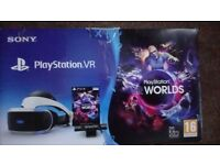 Playstation 4 vr headset and vr camera and vr worlds