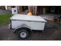 Trailer, good condition with lockable lid and tailboard