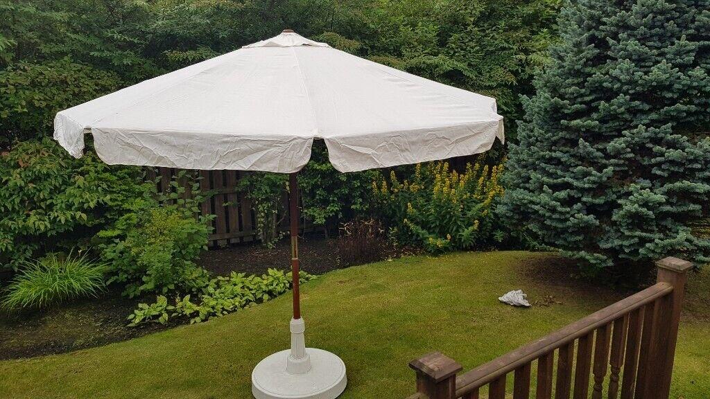 4dacbdf2f7 Deluxe Wood Outdoor Patio Umbrella Double Pulley Garden Paraso | in Uphall,  West Lothian | Gumtree