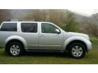 NISSAN PATHFINDER 6 SPEED TURBO DIESEL 06 FULL YEARS MOT STUNNING