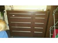 Large chest of drawers 10 drawers dark brown