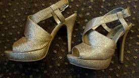 New Look size 4 Gold sandals