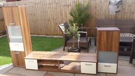Tv unit with 2 matching units