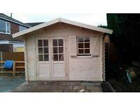 Garden building , Log cabin , summer house ( 13 x 10 ft x 28 mm )