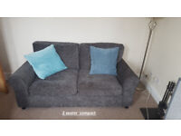 2 and 3 Seater Compact Sofas -Charcoal Grey