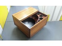 teak dry bar, cocktail cabinet,made by Dryland