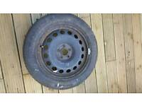 VW Golf mk4 spare wheel tire 5x100