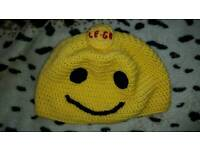 Handmade knitted lego head hat fashion clothes