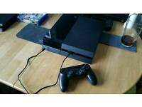 PS4 with cables and controller 500GB
