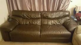 FREE 3 Seater Leather Sofa