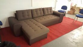 Chocolate brown sofa bed. Exdisplay
