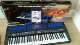 61-key electric keyboard complete with charger and manual booklet inbox