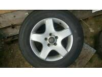 Touareg 4x4 Alloy Wheel and Tyre 235/65/R17 Good Tread