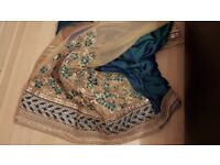 Turcoise wedding saree