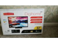 medim 32 inch Digihome TV-brand new-from a smoke&pet free house