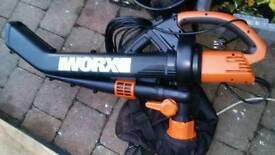 New Worx leaf blower and vacuum